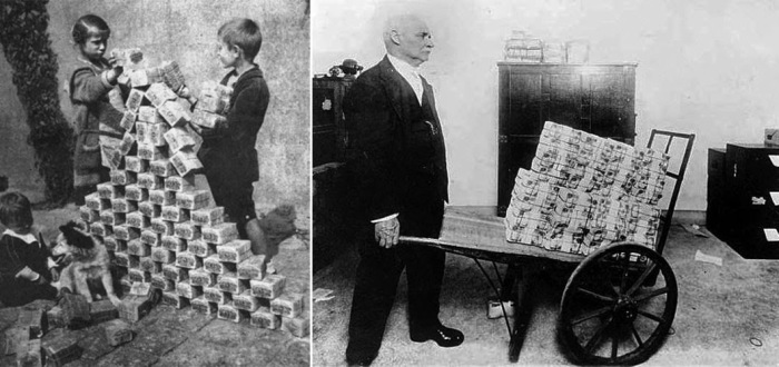 childrenplayingwithstacksofhyperinflatedcurrencyduringtheweimarrepublic19221