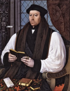 Thomas Cranmner, Archbishop of Canterbury from 1533 till 1555. He died at the age of 66 in 1556.