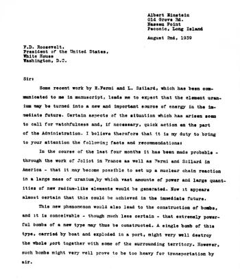 Einstein's Letter Pg. 1