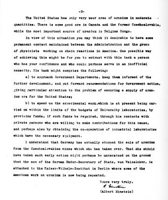 Einstein's Letter Pg. 2