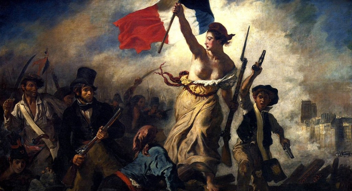 French Revolution Eugene Delacroix 1830 WIDESCREEN