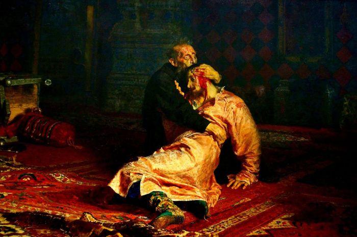 Ivan killing his son Ilya Repin