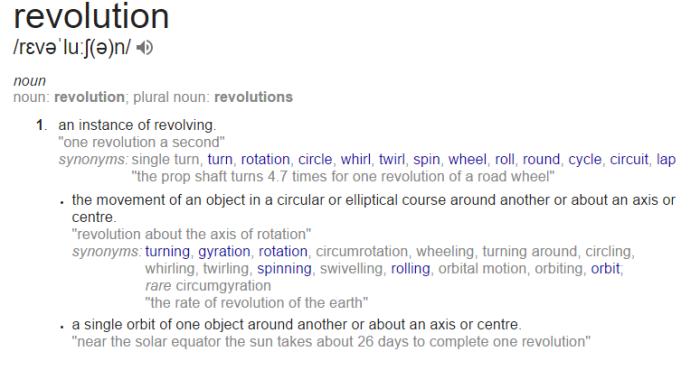 revolution definition google