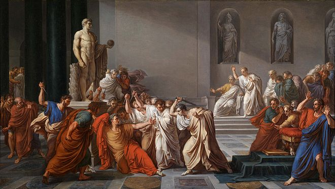 The Death of Caesar, 1978 by Vincenzo Camuccini.jpg