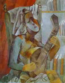 Woman Playing the Mandolin, 1909