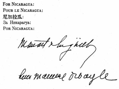 un charter nicaragua